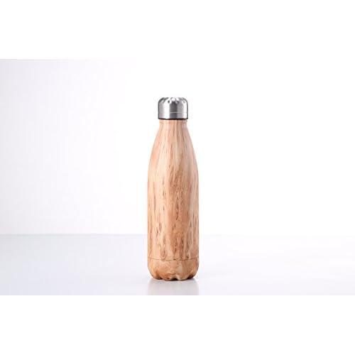 Huskey Thermos 9 Gram Inoxydable Bois En D'eau481 Acier Bouteille vm8n0wNO