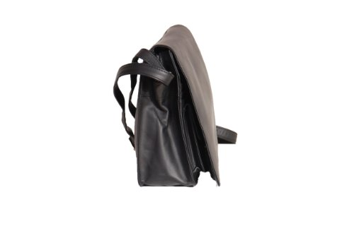 Mesdames bandoulière Organisateur femmes Croix Corps en cuir véritable sac noir MAUI