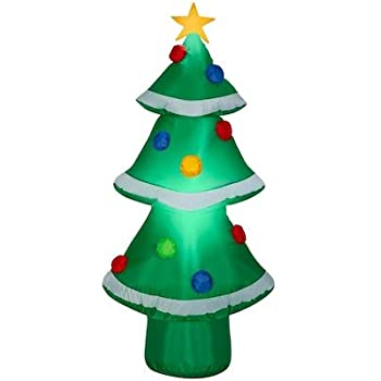 Amazon.com: Gemmy 4FT Tall Christmas Tree with Ornaments Inflatable Indoor/Outdoor Holiday ...