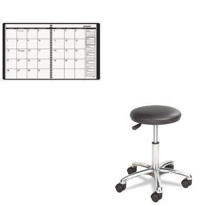 KITAAG7026005SAF3434BL - Value Kit - Safco Height Adjustable Lab Stool (SAF3434BL) and At-a-Glance Recycled Monthly Planner (AAG7026005) (Lab Planner)
