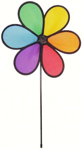 In the Breeze 12 Inch Rainbow Dazy Flower – Colorful Wind Spinner for your Yard and Garden