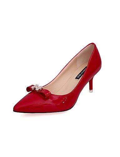 GGX/ Damen-High Heels-Lässig-Lackleder-Stöckelabsatz-Absätze-Schwarz / Grün / Rosa / Rot / Weiß / Grau pink-us8 / eu39 / uk6 / cn39