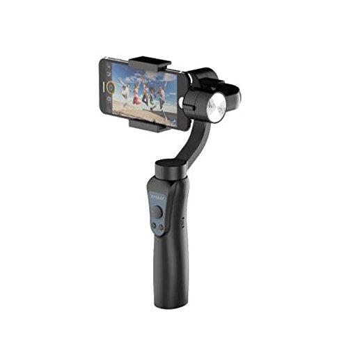 Ochoos Jcrobot S5 3-Axis Handheld Bluetooth Gimbal Stabilizer for Smartphones & GoPro Hero Action Camera - (Color: Black)