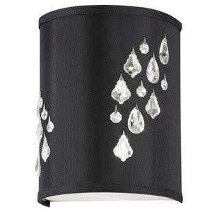 Dainolite RHI-8R-2W-694 Rhiannon - Two Light Right Wall Sconce, Polished Chrome Finish with Black/Silver Shade with Clear (Polished Chrome Wall Sconce Lamp)