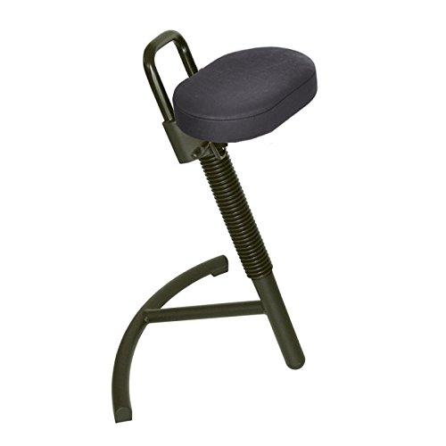stehhilfe stabilith, con seduta in similpelle nero, di Lotz