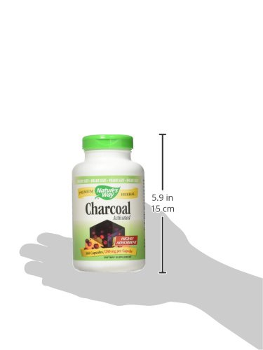 Nature's Way Charcoal Activated; 560 mg Charcoal per serving; 360 Capsules (Packaging May Vary) by Nature's Way (Image #9)
