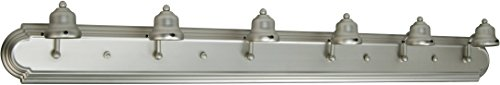 Craftmade Arch - Craftmade 11748BN6 Racetrack 6 Light Arch Arm Vanity Incandescent, Brushed Satin Nickel