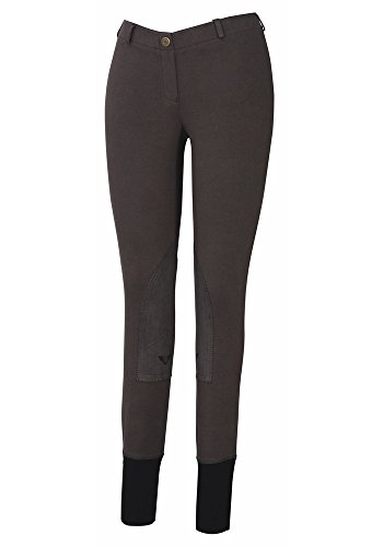 TuffRider Women's Starter Lowrise Pull-On Breech, Dark Grey, 26 Tuffrider Tights