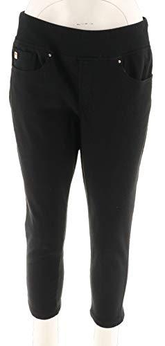 Belle Kim Gravel Flexibelle Cropped Jegging Back Pockets Black 28W New A307379 from Belle by Kim Gravel