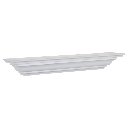 Review Woodland Home Decor CMS60W 60-Inch White Crown Moulding Shelf By Woodland Home Décor by Woodland Home Décor