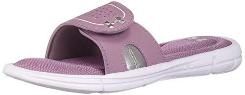 Under Armour Women's Ignite Motion VIII Slide Sandal White (100)/Purple Prime 7 M US