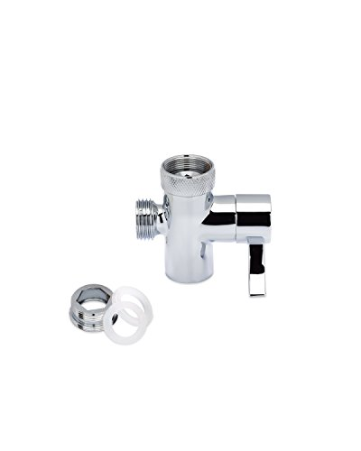 SmarterFresh Faucet Diverter Valve With Aerator and Male Threaded Adapter, Faucet Adapter for Hose Attachment, Faucet Connector for Water (Male Threaded Adapter)