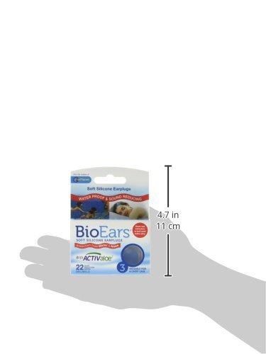 BioEars/Â/® Soft Silicone Earplugs 3 Pair Pack 3 Packs