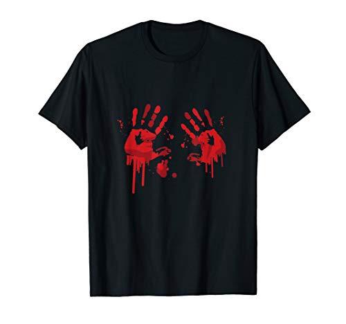 Bloody Hand-Prints Valentine Halloween Butcher Costume Top T-Shirt -