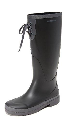 Tretorn Rain Women's Boot Lacey Dark Black Grey FHFwxRCqE