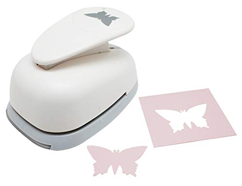 Butterfly Paper Punch - Bira 3 inch Butterfly Lever Action Craft Punch for Paper Crafting Scrapbooking Cards Arts DIY Project