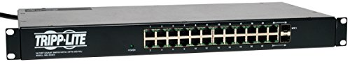 Tripp Lite 24 Port Gigabit Ethernet Switch with 12 Outlet PDU, 2 SFP Ports (NSU-G24C2) (12 Kva Rack)
