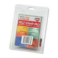 Cosco(R) Felt Stamp Pad, Black/Red (Cosco Felt Stamp Pad)