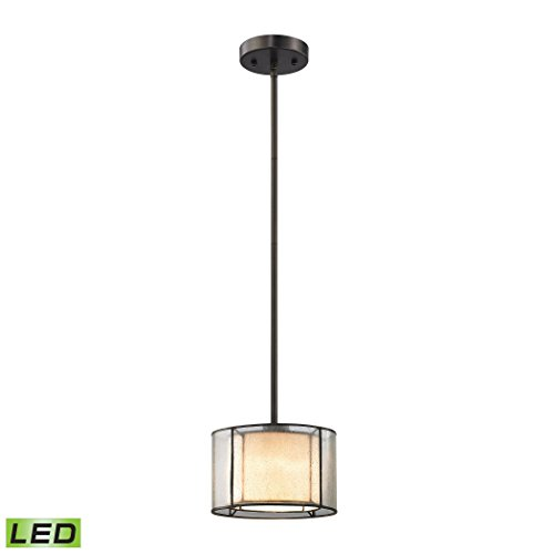 Mirage Collection 1 Light - Alumbrada Collection Mirage 1 Light LED Pendant In Tiffany Bronze