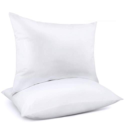 Adoric Pillows, Pillows for Sleeping (2-Pack) Down Alternative Bed Pillows 100% Cotton, Hypoallergenic & Dust Mite Resistant (White, Queen)