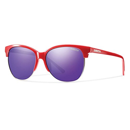 Smith Optics Women's Rebel Archive Sunglasses/Eyewear, Red/Purple Sol-X, - Smith Rebel Sunglasses