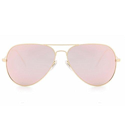 Pink Film De Mode Couleur Golden Lumineuses Lunettes Orange Lens Unisexe Color Frame Sakuldes Golden Lens Lunettes Frame Soleil qIxYnwaEgt