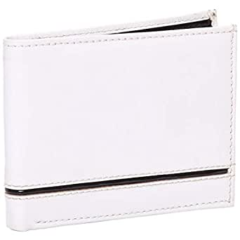Laveri Waterproof Wallet for Men - Leather, White and Black