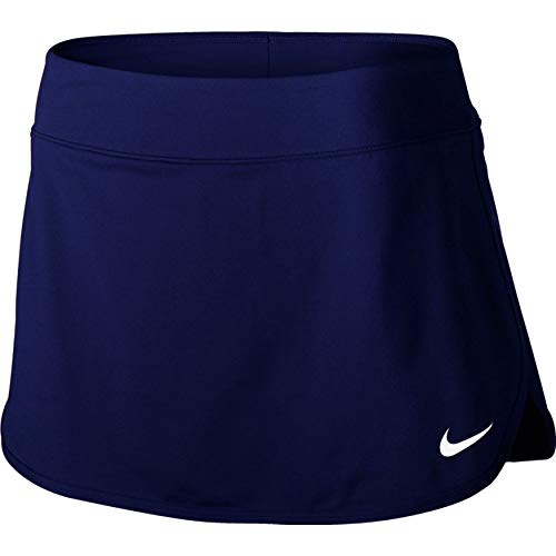 Nike Women's Court Pure Tennis Skirt Blue Void/White Small 2 by Nike (Image #2)