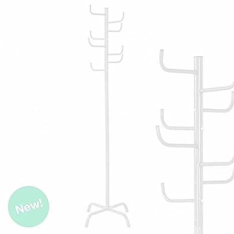 Dcasa - Perchero de pie blanco diseño cactus 175 cm .