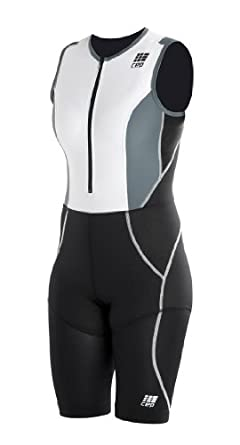 CEP Damen Kompressions Thriatlon Anzug compression triathlon skinsuit, schwarz, IV Oberschenkelumfang 55-65 cm Richtgröße L, WB40574