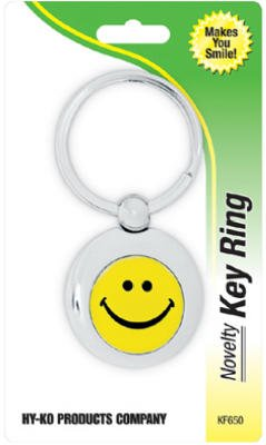 HY-KO Products KF650 Smiley Face Keychain, Multi