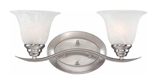 Volume Lighting Trinidad 2-Light Brushed Nickel Bathroom Vanity ()