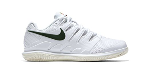 NIKE Men's Air Zoom Prestige Tennis Shoe (White/Light Cream/Metallic Gold/Gorge Green, 7.5 B(M) US, Tennis Shoes) ()