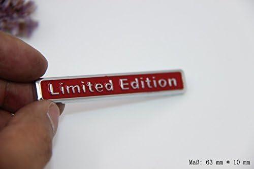 Autocollant 3D pour voiture Rouge Embl/ème de voiture en /édition limit/ée E828