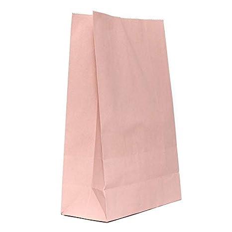 Bolsas de papel de color rosa palo para regalos de adviento ...