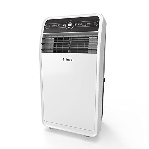 Shinco 12,000 BTU Portable Air Conditioners with Built-in Dehumidifier Function, Fan Mode, Quiet AC Unit Cools Rooms to…