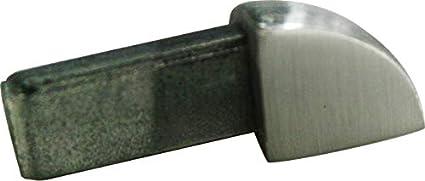 kein Abbl/ättern m/öglich Vollmaterial PREMIUM FUCHS Au/ßenecke H: 11mm Viertelkreisprofil Edelstahl V2A Geb/ürstet