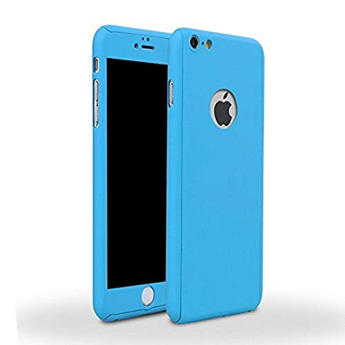 iPhone 6/6s Full Body Hard Case-Aurora Blue Front and Back Cover with Tempered Glass Screen Protector for iPhone 6/6s 4.7 Inch