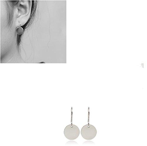 [Usstore 1Pair Women's Punk Disco Nightclub Metal Ear Stud Earrings Jewelry (Silver)] (70s Jewellery Disco)