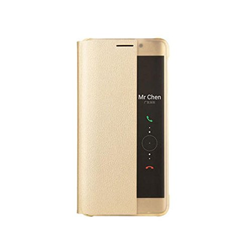 Price comparison product image Feite Luxury Smart Window Sleep Wake UP Flip Leather Case Cover For Huawei Mate 9 Pro (Gold)