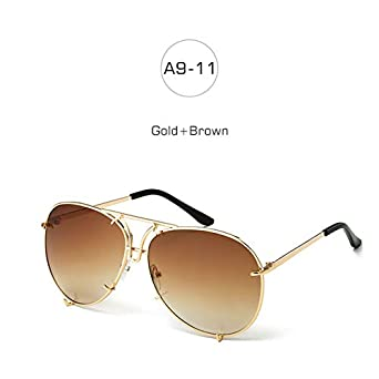 dbe08b58cf Shopystore A911GoldBrown Badtemper Women Vintage Sunglasses Gold Clear  Glasses Big Fra  Amazon.in  Clothing   Accessories