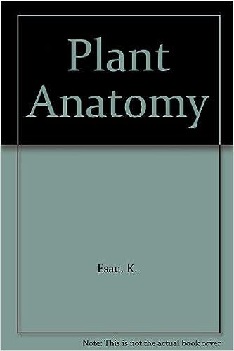 Plant Anatomy K Esau Amazon Books