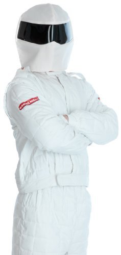 The Stig Costume For Adults (Large White Adults Racing Driver Costume)