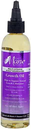 THE MANE CHOICE Hair Growth Oil (4 Ounces / 118 Milliliters) - Multi-Vitamin Scalp Nourishing Growth Oil Formulated to Stimulate Hair Growth From the Roots