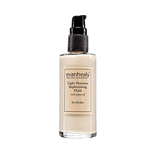 evanhealy Light Moisture Replenishing Fluid with Handcrafted Argan Oil for All Skin Types, Moisturizes Normal to Oily and Sensitive Skin Conditions with Activating Botanical Extracts, Vegan, 2 Ounces