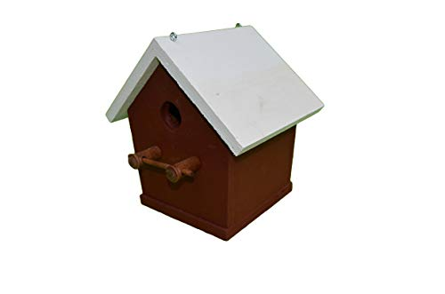 Simple Birdhouse Amish Made in Usa! So Simple, Yet so Nice! Simple Birdhouse. This Amish Country Collectible Wooden Birdhouse Is for the Bird Lover That Wants a Simple Country Birdhouse. No Fancy Bells or Whistles, Just a Comfortable Place for Their Feathered Friends to Nest. The Base Is 6 3/8″ W, 6 1/4 D, and 8 1/2″ H, At the Roof Peak. Colors Will Vary. Bottom Is Removable for Easy Cleanout