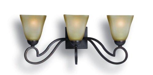 Bordeaux Bath Sconce (Woodbridge Lighting 53103-BOR Palermo 3-Light Bath Light, Bordeaux)