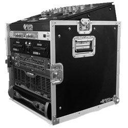 Road Ready RRM10U 10U Slant Mixer Rack/10 U Vertical Rack -