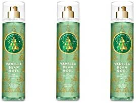 Bath & Body Works Vanilla Bean Noel Fine Fragrance Mist - 2018 Edition - Lot of 3
