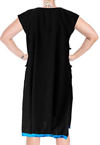 dcd95307d2 La Leela Frauen Tunika Bademode Bikinibadebekleidung Badeanzug Verschleiern  Bluse Eine Größe Schwarz3150 tnqhp